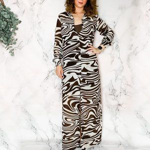 Michael Kors Long Sleeved Maxi Dress